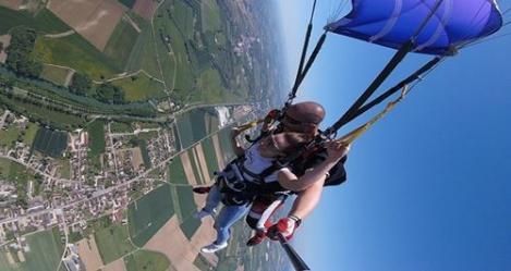 Sous voile avec cooltandem parachutisme