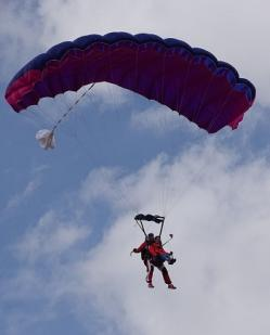 Atterrissage avec Cooltandem Parachutisme
